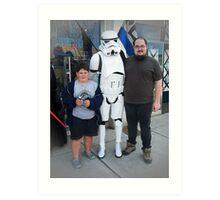 Meeting A Starwars Storm Trooper Art Print