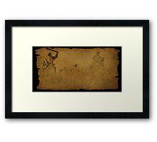 Parchment find Framed Print