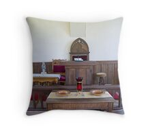 Altar, Sandtown Advent Christian Church, Lost Villages, Cornwall, Ontario Throw Pillow