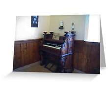Organ, Sandtown Advent Christian Church, Lost Villages, Cornwall, Ontario Greeting Card