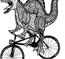 Spinosaurus Aztec Bicycle by toshibung