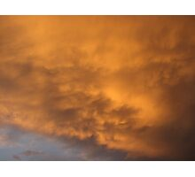 Clouds at dusk Photographic Print