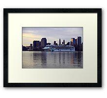 The Norwegian Dawn on the Hudson Rv. Framed Print