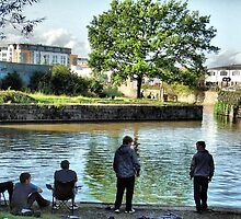 Fishing in the Bristol Feeder Canal.  by Clive Lewis-Hopkins.