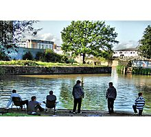 Fishing in the Bristol Feeder Canal.  Photographic Print