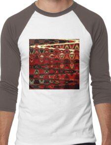 Red Roses (abstract) Men's Baseball ¾ T-Shirt