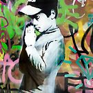 Banksy Prayer by Respire