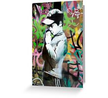 Banksy Prayer Greeting Card