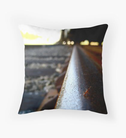 Ant on a Railroad Track  Throw Pillow