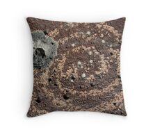 Damaged Petroglyph Throw Pillow