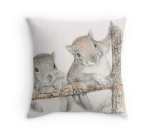 I'm Slipping! Throw Pillow