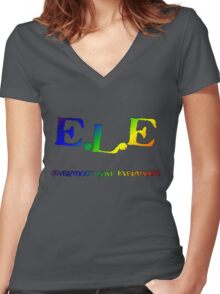 E.L.E. (Everybody Love Everybody) Women's Fitted V-Neck T-Shirt