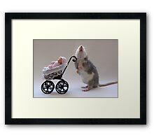 A real babysitter :) Framed Print