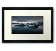 Glacier Lagoon August 2009 #2 Framed Print