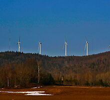 Mars Hill Wind Turbines by Brenda Dow