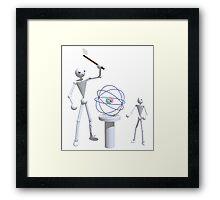 Splitting the atom Framed Print