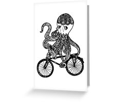 Octopus Love Bicycle  Greeting Card