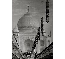 Reflection of Taj Mahal,Agra,India. Photographic Print