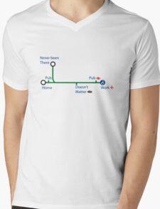 London life Mens V-Neck T-Shirt