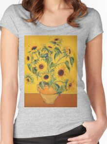 'A Brush with Vincent'.  Women's Fitted Scoop T-Shirt