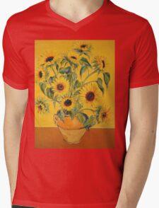 'A Brush with Vincent'.  Mens V-Neck T-Shirt