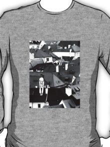 Little sad boy on the roof T-Shirt