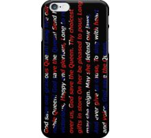 God Save The Queen - UK anthem iPhone Case/Skin