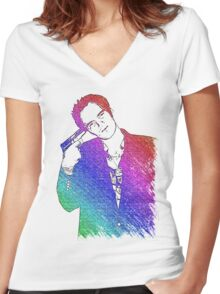 Tarantino Colors Women's Fitted V-Neck T-Shirt