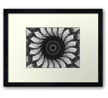 Gray Kaleidoscope Art 8 Highlighted Framed Print