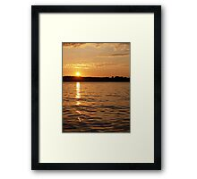 Sunset on Smith Mountain Lake Framed Print