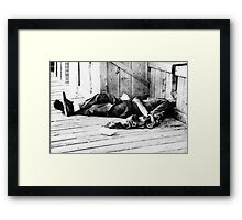 Harsh Reality Framed Print