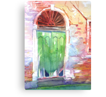Venetian Doorway Canvas Print