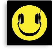 SMILEY FACE MUSIC LOVER HEADPHONES Canvas Print