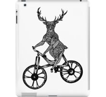 Funny Deer Aztec on a Bicycle  iPad Case/Skin
