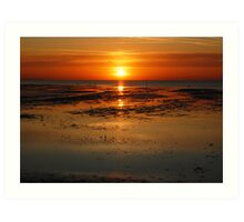 sunset at minis bay kent Art Print