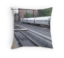 Amtrak at speed continued Throw Pillow