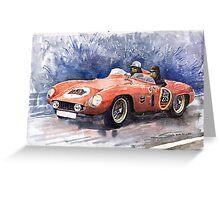 Ferrari 500 Mondial Greeting Card