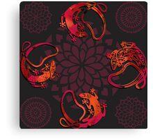 Sensuous Lizards Canvas Print