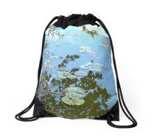 Lilypad Reflections Drawstring Bag