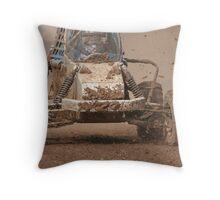 Mud Slinger Throw Pillow