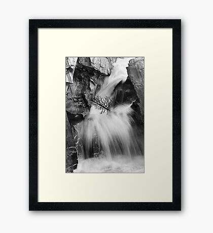 Falls Along The North Saskatchewan River Framed Print