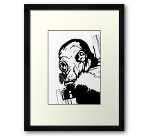 Gas Mask 1.0 Framed Print