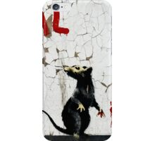 Fitzrovia Rat by Banksy iPhone Case/Skin