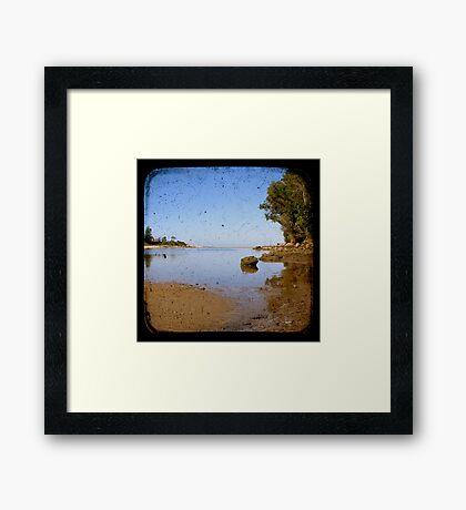 Lake Cathie Through The Viewfinder (TTV) Framed Print