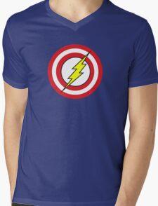 Captain Flash Mens V-Neck T-Shirt