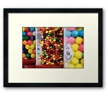 Candy color Framed Print