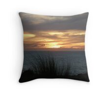 sunset at southend Throw Pillow