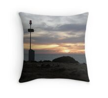 southend point at sunset Throw Pillow