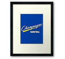 Champagne Basket 1 Blue Framed Print