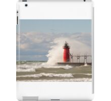 Lighthouse, South Haven, Michigan-4 iPad Case/Skin